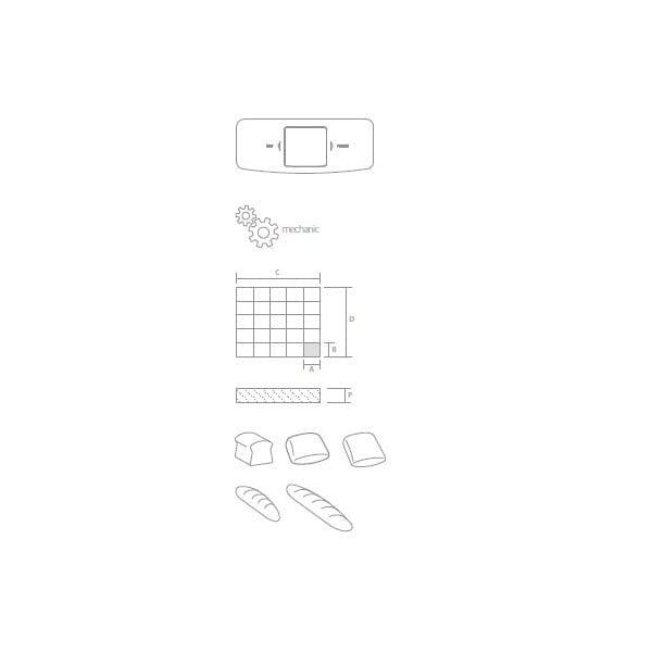 Divizor paine manual 80-700gr 3